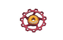 KCNC Jockey Wheel Versnellingsaccessoires 11T, Ceramic-Bearing rood